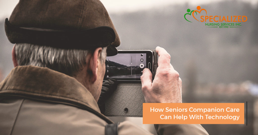 how seniors companion care can help with technology