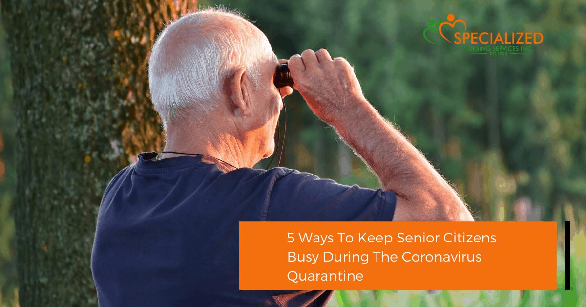 senior citizen keeping busy